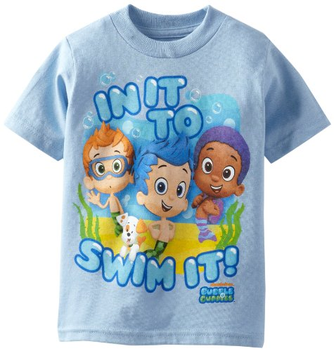 Nickelodeon Little Boys' Bubble Guppies T-Shirt Toddler, Sky Blue, 3T