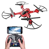 Review of Holy Stone HS200 FPV RC Drone with HD Wifi Camera Live Feed 2.4GHz 4CH 6-Axis Gyro Quadcopter with Altitude Hold, Gravity Sensor and Headless Mode RTF Helicopter, Color Red