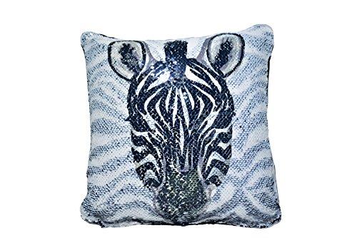 Zebra Sequin Pillow, Fiesta Reversible Sequin Pillow Throw Cushion 12