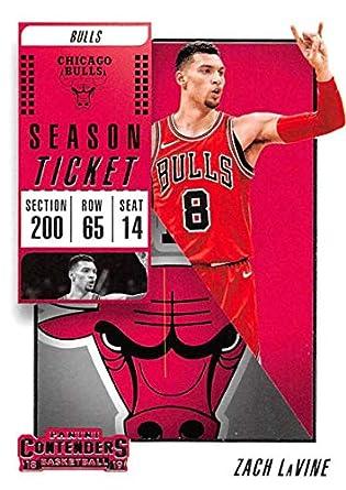 cbd3cc1e7 2018-19 Panini Contenders Season Ticket  44 Zach LaVine Chicago Bulls NBA  Basketball Trading