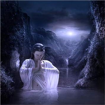 Posterlounge Acrylglasbild 50 x 50 cm: Laguna de Noche von Elena Dudina - Wandbild, Acryl Glasbild, Druck auf Acryl Glas Bild