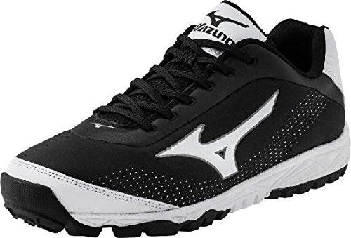 Mizuno Men's Blaze Trainer 2 Turf Shoe,Black/White,8 M US (Mizuno Cross Training Mens Shoes)
