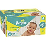 Pampers Swaddlers Disposable Diapers Size 3, 168 Count