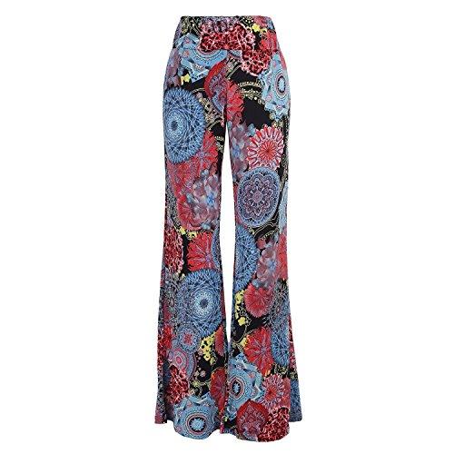Yipost Women's High Waist Wide Leg Palazzo Pants (Silk Wide Leg Trousers)
