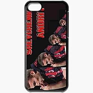 Personalized iPhone 5C Cell phone Case/Cover Skin Andriy Shevchenko Football Black