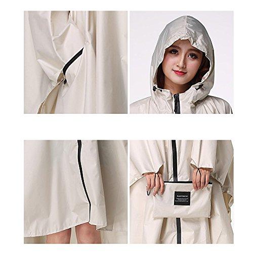 l Dimensioni Crema raincoat L Donna k Outdoor Nero zi Taglia Sottile Loose p Da Bianco Xing Impermeabile colore C Travel Poncho 4x6TqpqH