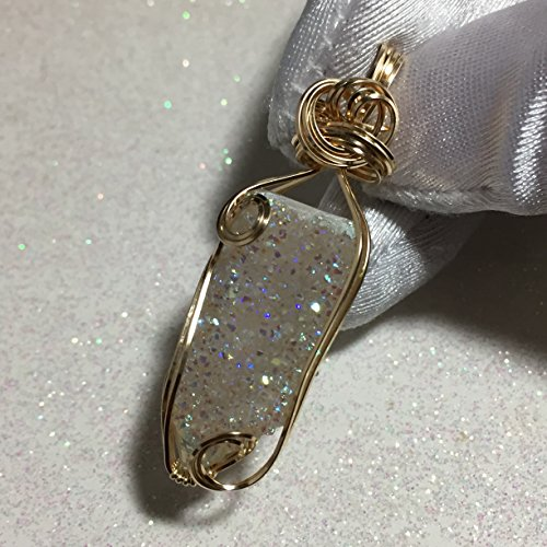 Spirit Quartz Pendant - 14k Gold Fill - Violet Aura - w/ necklace -s2-6
