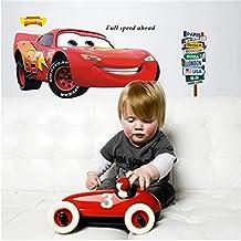 """Disney Pixar: Cars Lightning McQueen   20"""" x 43"""" 3D Removable Wall Sticker/Decal"""