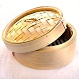 Godskitchen 5' - Round Shape Momos / Dimsum / Wanton Steamer Bamboo Box - Round Shape Momos Bamboo Basket