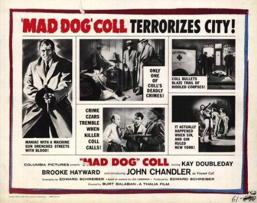 Mad Dog Coll POSTER Movie (11 x 14 Inches - 28cm x 36cm) (1961) (Style - Brooke Style Davis