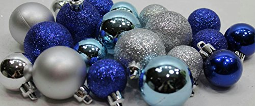20 Holiday Time Mini Shatterproof Satin Shiny and Glitter Fi