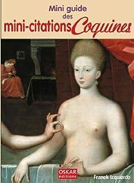 Mini-citations coquines par Franck Izquierdo