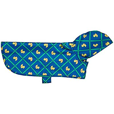 RC Pet Products Packable Dog Rain Poncho, Rubber Ducky