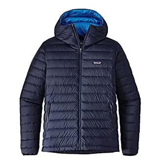 Patagonia Mens Down Sweater Hoody, Navy Blue w/Navy Blue, XL