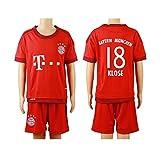 2015/16 #18 Miroslav Klose Red Home Kids Youth Soccer Jersey & Short Kit Set