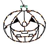 Vickerman 16'' Lighted LED Pumpkin Halloween Window Silhouette Decoration