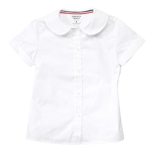 93adcfa0716cca Amazon.com: French Toast Short Sleeve Peter Pan Blouse (Feminine Fit) Girls  White 7: School Uniform Button Down Shirts: Clothing