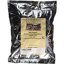 Cayenne Pepper Powder 90K H.U. - capsicum annum, 1 lb,(Starwest Botanicals)