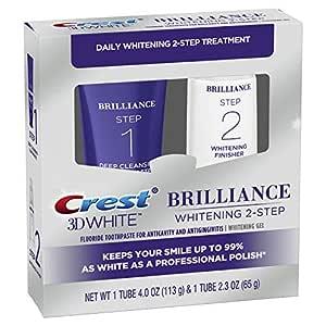 Crest 3d White Brilliance 2 Step Kit Deep Clean Toothpaste 4oz