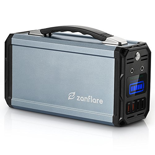 (Zanflare Portable Generator, 300W 222Wh Portable Power Station, Dual 120V AC Outlets, 3 DC Ports, 4 USB Ports, Solar Generator for Outdoors Camping Travel Fishing Emergency)