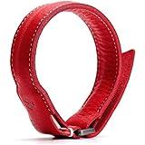 SLG Design MFi認証 ライトニングケーブル ブレスレット Minerva Box Leather Bracelet Cable レッド 本革 USB充電 データ転送【日本正規代理店品】