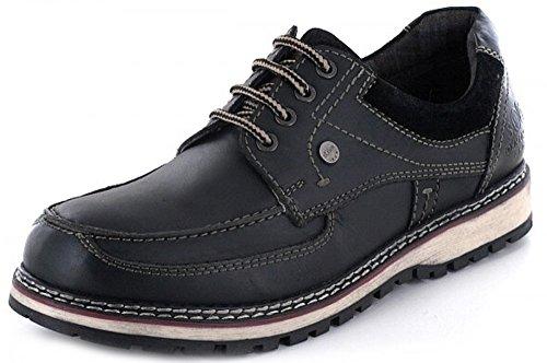 s.Oliver 13609-27-001 - Zapatos de cordones de Piel para hombre negro negro 42