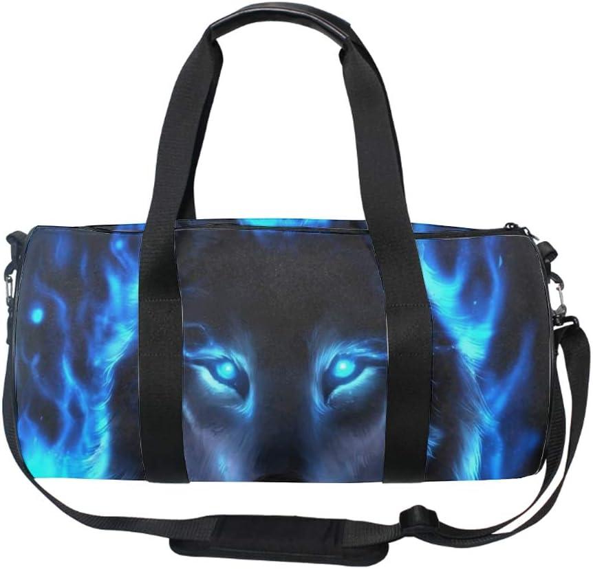 Travel Gym Fitness Bag Bluewolf Round Duffel Sports Bags