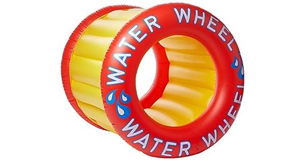 Amazon.com: Swimline agua rueda piscina flotador: Toys & Games