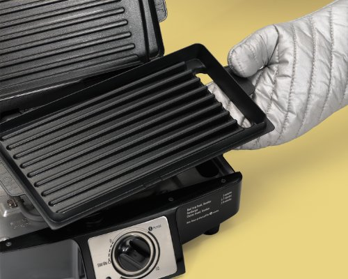 Hamilton beach 25332 electric indoor grill with non stick removable plates 110 cooking - Health grill with removable plates ...