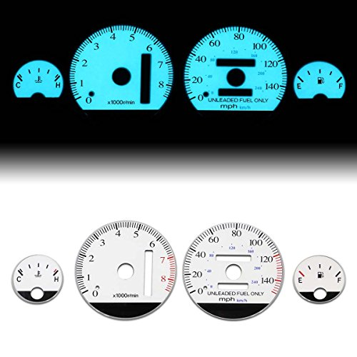 (For Acura Integra Auto Transmission AT White Face Dash Cluster Electroluminescence Indiglo Glow Gauge)