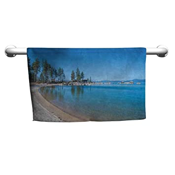 Amazon com: zojihouse Lake Tahoe Beach Towel for Clear Water