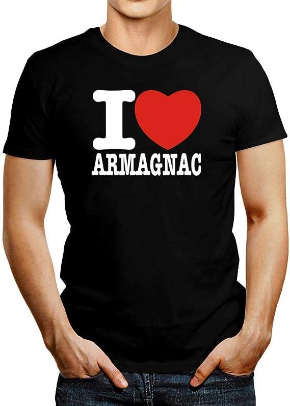 Idakoos I Love Armagnac Bold Font T-Shirt