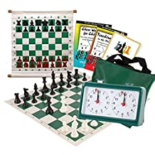 Scholastic Club Starter Kit - For 20 Members - With Quartz Chess Clocks - Green - by US Chess Federation