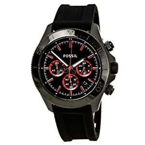 Fossil Retro Traveler Chronograph Silicone Watch - Black Ch2874