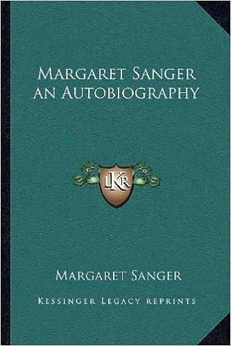 Book Margaret Sanger an Autobiography