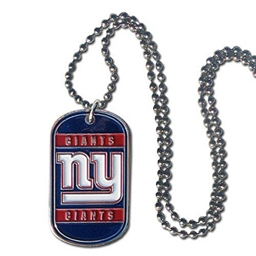 NFL Officially Licensed Dog Tag Necklace (New York Giants)