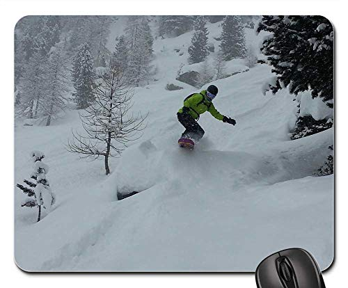 (Mouse Pad - Snowboard Freeride Freeriding Height Mountains )