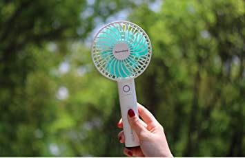 5 Speeds Desk Fan BENGOO Usb Mini Cooling Table Fan Handheld Fan with Rechargeable Power Bank and Detachable Charging Base for Office Outdoor Household and Personal Use