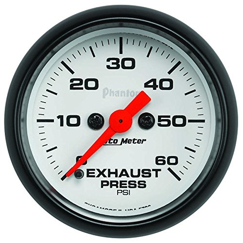 "Auto Meter 5792) Phantom 2-1/16"" 0-60 PSI Full Sweep Elec..."