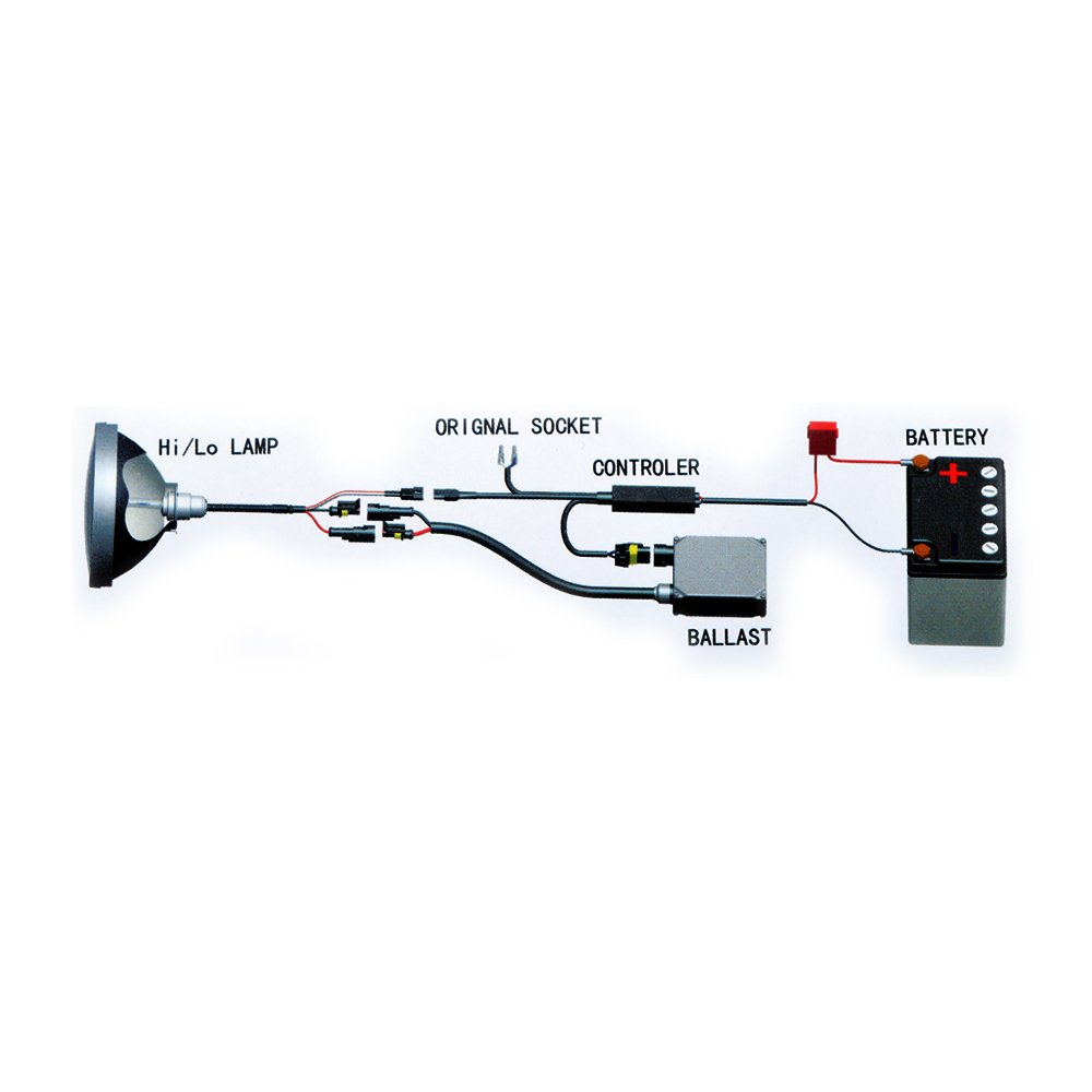 Auto Hub Bike HID LED Headlight Bulb For TVS Apache RTR 180 ...