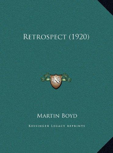 Download Retrospect (1920) PDF