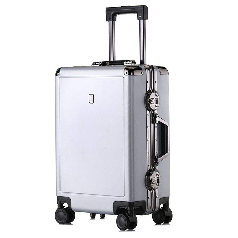 PCアルミフレーム荷物、カジュアルファッションビジネストロリーケース、搭乗ケース、ユニバーサルホイールスーツケース(20インチ、24インチ),A,20inch B07T6LQRZK A 20inch