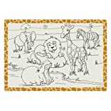 Hoffmaster 310690 Paper 2 Sided Kids Placemat, 14'' Length x 9-3/4'' Width, Jungle Fun (Case of 1000)