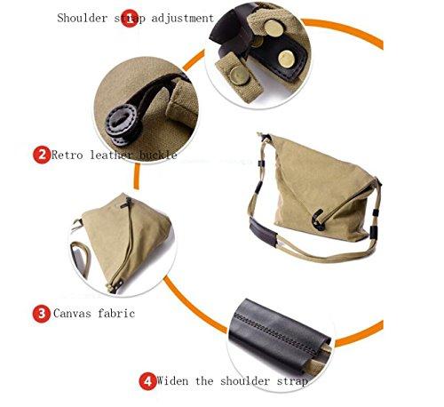 Señoras Hombres Retro Canvas Messenger Bag Simple Deportes Y Ocio Bolso De Hombro Orange