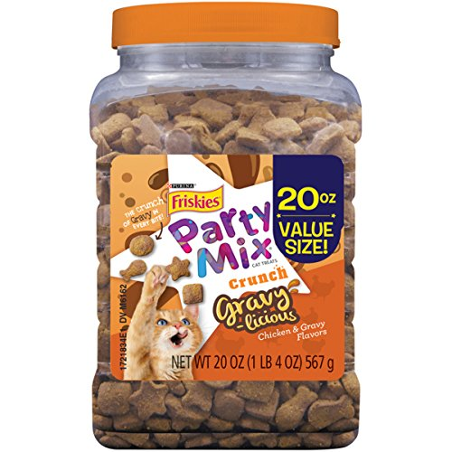 Purina Friskies Party Mix Gravylicious Cat Treats - 20 oz. Canister