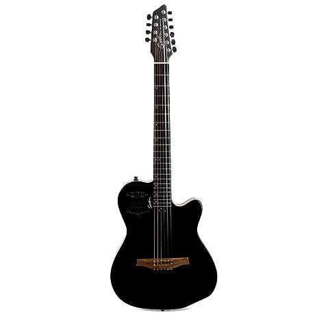 Godin guitarras 038220 A10 negro guitarra eléctrica de acero