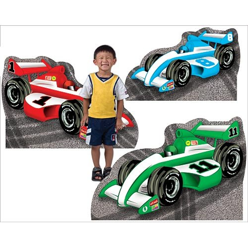 18 in. to 25 in. Race Car Standees Standup Photo Booth Prop Background Backdrop Party Decoration Decor Scene Setter Cardboard Cutout -