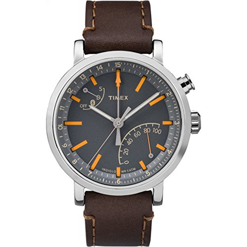 Timex Unisex TW2P92300 Metropolitan+ Dark Brown Stitched Leather Strap (Timex Womens Fashion Watch)