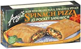Amy's Spinach Pizza Pocket, Organic, 4.5-Ounce Boxes (Pack of 12)