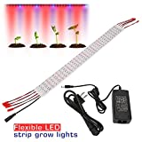 [Pack of 5]Esbaybulbs DIY Design LED Plant Grow Flex Strip Light 5W 1.6ft/Strip, w/Adapter, 5 Red:1 Blue, for Greenhouse, Plant Grow Shelf; Easy Installation